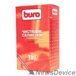Чистящие средства Запасной блок к тубе с чистящими салфетками для экранов и оптики BURO BU-ZSCREEN, 100шт.817446