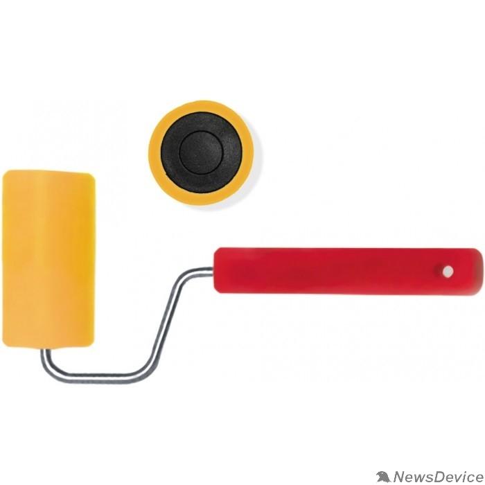 Шпатели, мастерки, кельмы, терки, гладилки FIT IT Валик прижимной для обоев резиновый, желтый  50 мм 02980