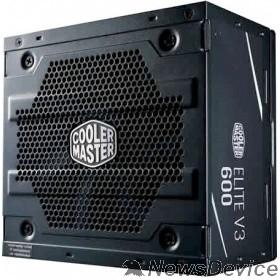 Блок питания Cooler Master Elite V3 600W (MPW-6001-ACABN1-EU) ATX, 120mm, 3xSATA, 1xPCI-E(6+2), APFC