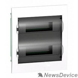 SE Щиты распределительные Schneider-electric EZ9E212S2FRU Щит распределительный встраиваемый белый дверь прозрачная на 24 модуля IP40 Easy9