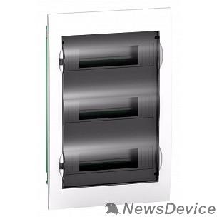 SE Щиты распределительные Schneider-electric EZ9E312S2FRU Щит распределительный встраиваемый белый дверь прозрачная на 36 модулей IP40 Easy9