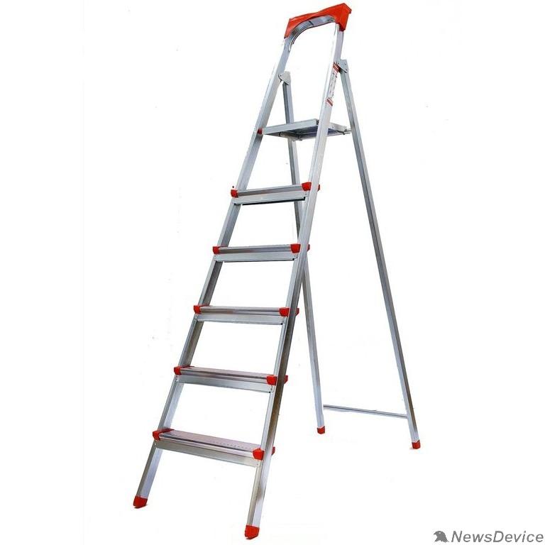 Лестницы, стремянки FIT РОС Лестница-стремянка стальная, 6 ступеней, вес 8,0 кг 65334