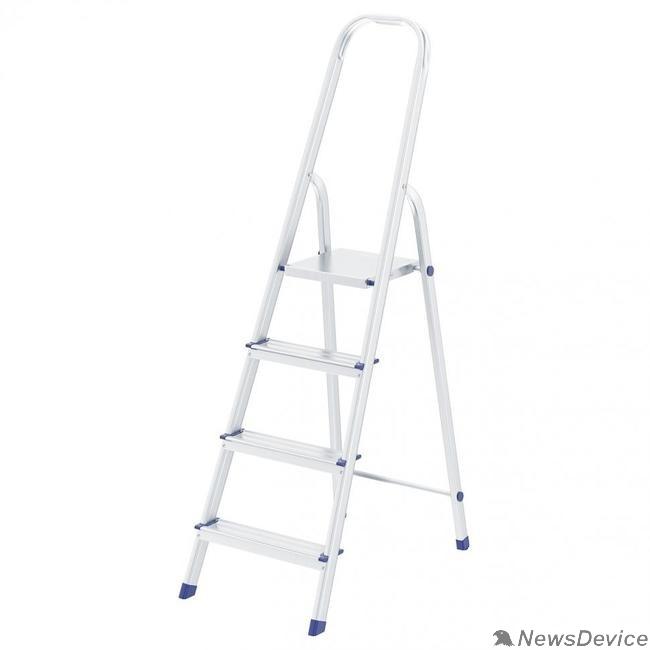 Лестницы, стремянки FIT РОС Лестница-стремянка алюминиевая, 4 ступени, вес 3,0 кг 65342