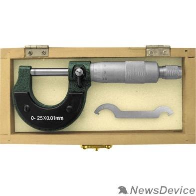 Штангенциркули FIT IT Микрометр наружный 0 - 25 мм/ 0,01 мм 19909