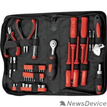 Наборы FIT IT Набор инструмента 45 шт. (отвертки, биты, ключ разводной, пасс.-мини), матерчатый чехол 65140