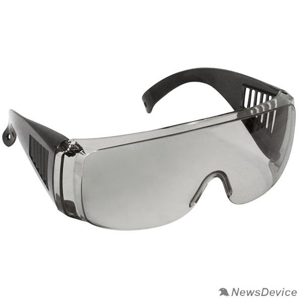 Защитные очки, Маски для сварки, Защитные щитки FIT РОС Очки защитные с дужками дымчатые 12218