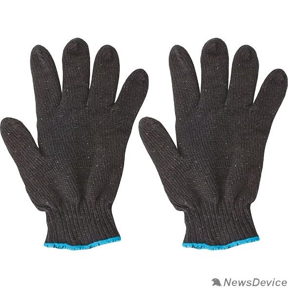 Перчатки РОС Перчатки вязаные упрочненные ( 5 нитей ) черные х/б 12496