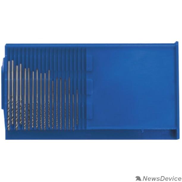 """Буры,сверла,долото FIT IT Сверла по металлу HSS полированные """"микро"""" набор 20 шт. (0,3-1,6 мм) 36360"""