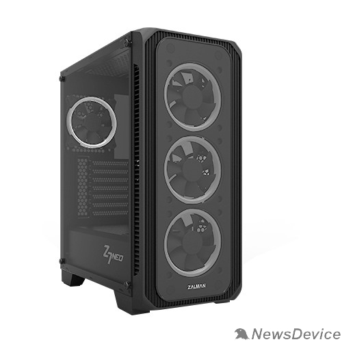 Корпус MidiTower Zalman Z7 NEO  Black без БП  боковое окно, ATX