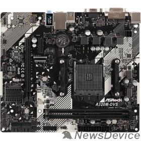 Материнская плата ASRock A320M-DVS R4.0 RTL Socket AM4, AMD A320, DDR4, 1xPCI-E x16, 1xPCI-E x1
