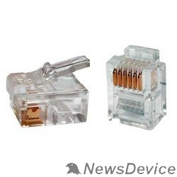 Коннектор Gembird  Коннектор телефонный RJ12  6P6C (100 шт. в уп.!!!)
