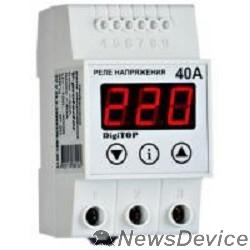 DigiTOP Реле, терморегуляторы, таймеры DigiTOP Vp-40A Реле напряжения однофазное на DIN-рейку, 50-400В, макс. 50А, 5-600 сек.