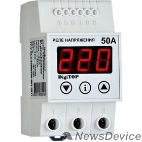 DigiTOP Реле, терморегуляторы, таймеры DigiTOP Vp-50A Реле напряжения однофазное на DIN-рейку, 50-400В, макс. 60А, 5-600 сек.