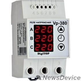 DigiTOP Реле, терморегуляторы, таймеры DigiTOP Vp-380V Реле напряжения трехфазное на DIN-рейку, 50-400В, макс. 6А, 5-600 сек.