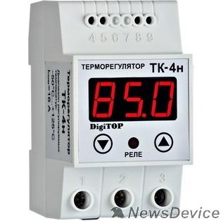 DigiTOP Реле, терморегуляторы, таймеры DigiTOP TK-4н Терморегулятор одноканальный на DIN-рейку, 16А, -50...+125С