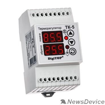 DigiTOP Реле, терморегуляторы, таймеры DigiTOP TK-5 Терморегулятор двухканальный на DIN-рейку, 4,5А, 0...+85С
