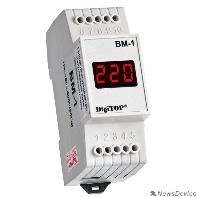 DigiTOP Реле, терморегуляторы, таймеры DigiTOP Вм-1 Вольтметр на DIN-рейку, однофазный, 100-400В