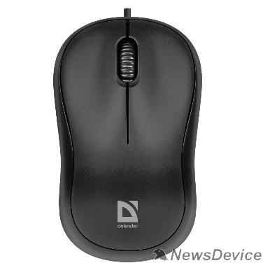 Мышь Defender Patch MS-759 Проводная оптическая мышь, черный, 3 кнопки, 1000 dpi 52759
