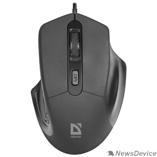 Мышь Defender Datum MB-347 Проводная оптическая мышь, черный,  4 кнопки, 800-1600 dpi 52347