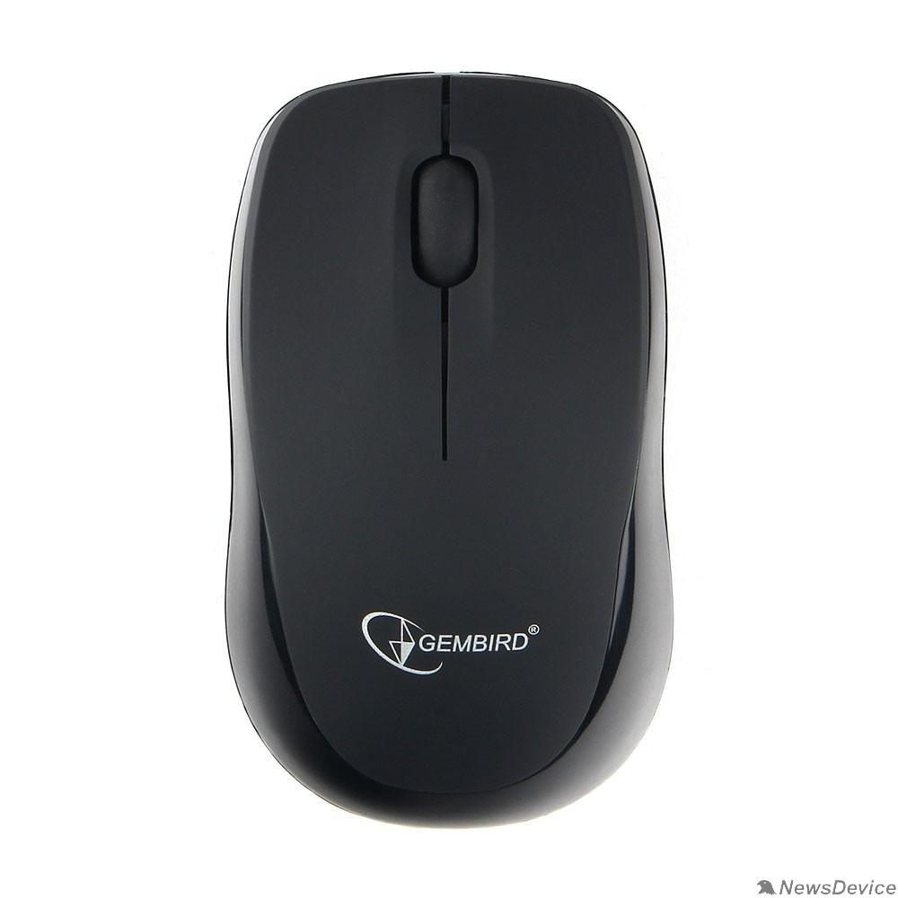Мышь Gembird MUSW-360 Мышь беспров., 2.4ГГц, черн, мини, 3кн, 1000DPI, блистер