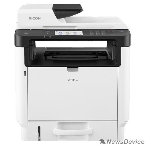 Принтер Ricoh SP 330SFN МФУ, A4, 256Мб, 32стр/мин, дуплекс, ARDF35, сенс.экран, факс, PS, LAN, старт.картр.1000стр.(408263)
