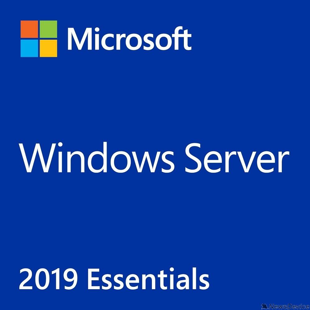 Неисключительное право на использование ПО Microsoft Windows Server Essentials 2019 G3S-01308 Russian 64-bit 1pk DSP OEI DVD 2CPU