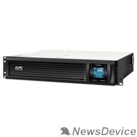 ИБП APC Smart-UPS C 1000VA SMC1000I-2URS Line-Interactive, 2U RackMount, LCD, out: 220-240V 4xC13, LCD, Gray, 1 year warranty, No CD/ cables