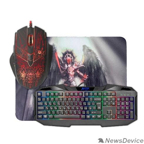 Клавиатура Defender Игровой набор Anger MKP-019 RU 52019 мышь+клавиатура+ковер