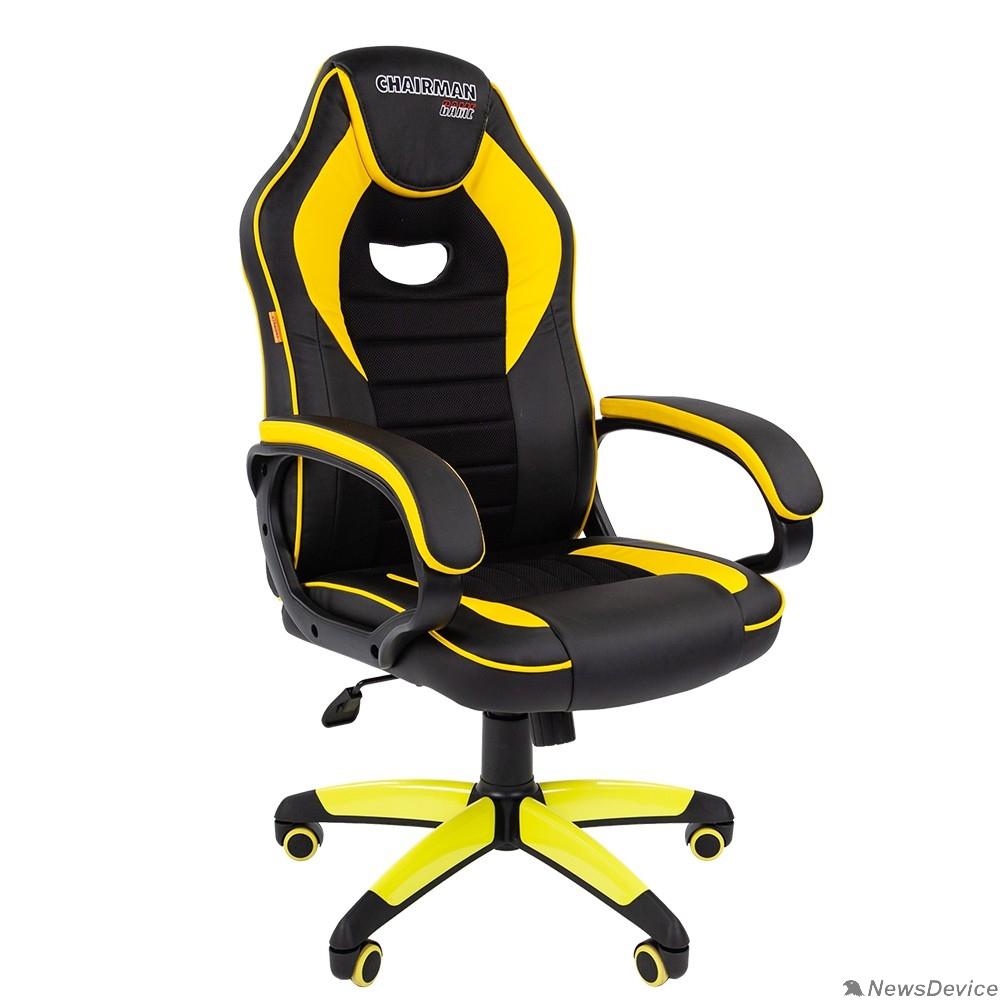 Офисные кресла Офисное кресло Chairman   game 16 Россия экопремиум черный/желтый  (7028514)
