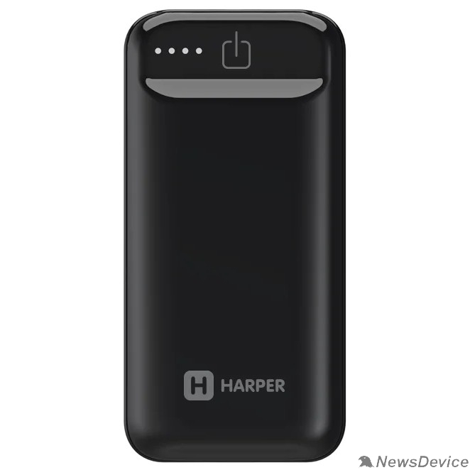 Аксессуар Harper Аккумулятор внешний портативный PB-2605 Black (5 000 мАч; Тип батареи: Li-Ion; Фонарик; LED индикатор уровня заряда; Вход: 5В/1А; Выход USB 1: 5В/1А)