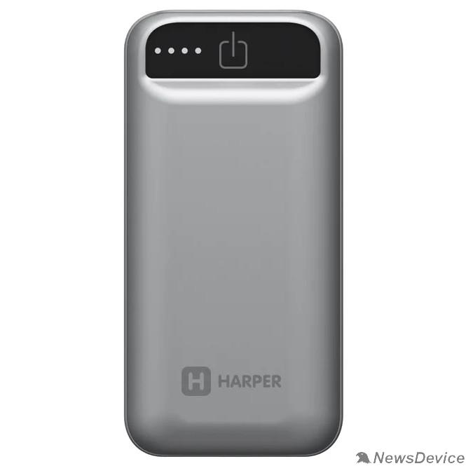 Аксессуар Harper Аккумулятор внешний портативный PB-2605 Grey (5 000 мАч; Тип батареи: Li-Ion; Фонарик; LED индикатор уровня заряда; Вход: 5В/1А; Выход USB 1: 5В/1А)