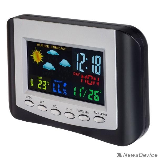 """Колонки Perfeo Часы-метеостанция """"Color"""", (PF-S3332CS) цветной экран, время, температура, влажность, дата"""
