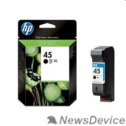 Расходные материалы HP 51645AE Картридж №45, Black DJ710/720/8XX/1600/930C/950/959/970Cxi/DJ1100/20/1220C/6122/27, black (42ml)