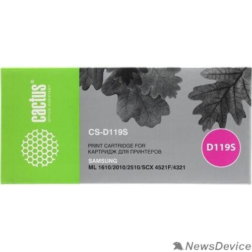 Расходные материалы CACTUS MLT-D119S Картридж для Samsung ML-1610/1615/1620/1625/2010/2015/2020/2510/2570/257 (2000стр.) чёрный