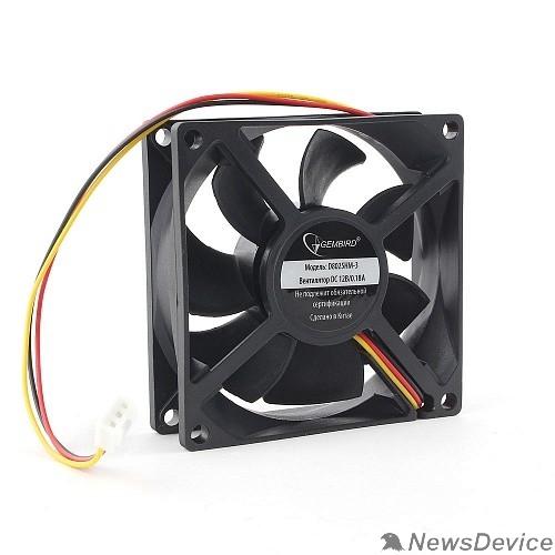 Вентилятор Gembird Вентилятор 80x80x25 гидродинамический, 3 pin, провод 30 см (D8025HM-3)