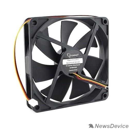 Вентилятор Gembird Вентилятор 140x140x25 гидродинамический, 3 pin, провод 40 см (D14025HM-3)