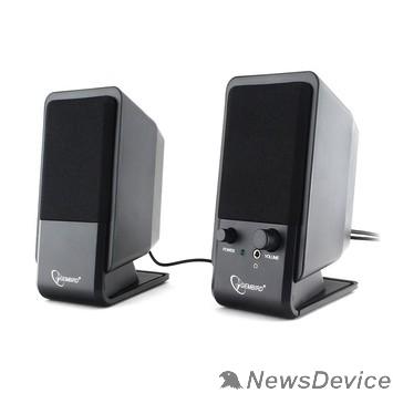 Колонки Gembird SPK-510, черный, 6 Вт, рег. громкости, разъём для наушников,USB-питание