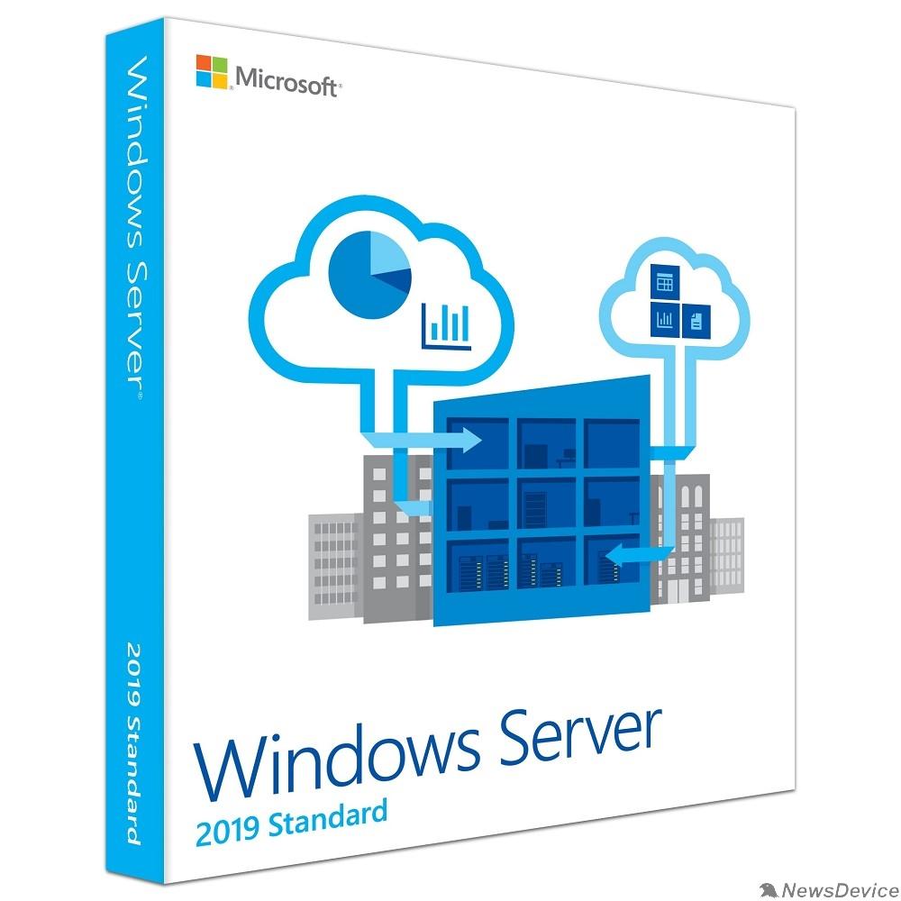 Программное обеспечение P73-07680 Microsoft Windows Server Standard 2019 English 64-bit Russia Only DVD 5 Clt 16 Core License