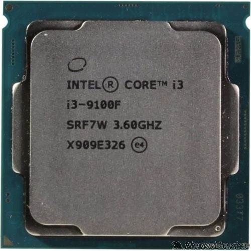 Процессор CPU Intel Core i3-9100F Coffee Lake OEM 3.60Ггц, 6МБ, Socket 1151v2 CM8068403358820/CM8068403377321