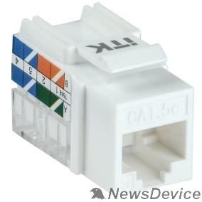Патч-корды, Патч-панели ITK CS1-1C5EU-11 Модуль Keystone Jack кат. 5EUTP 110IDC 90град.