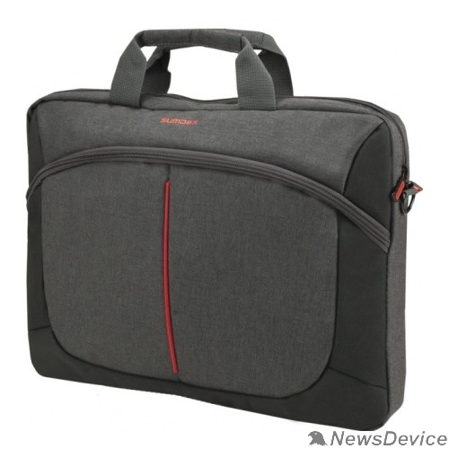 "Сумка для ноутбука Сумка SUMDEX PON-203GY(Полиэстр  серый до 15,6"" )"