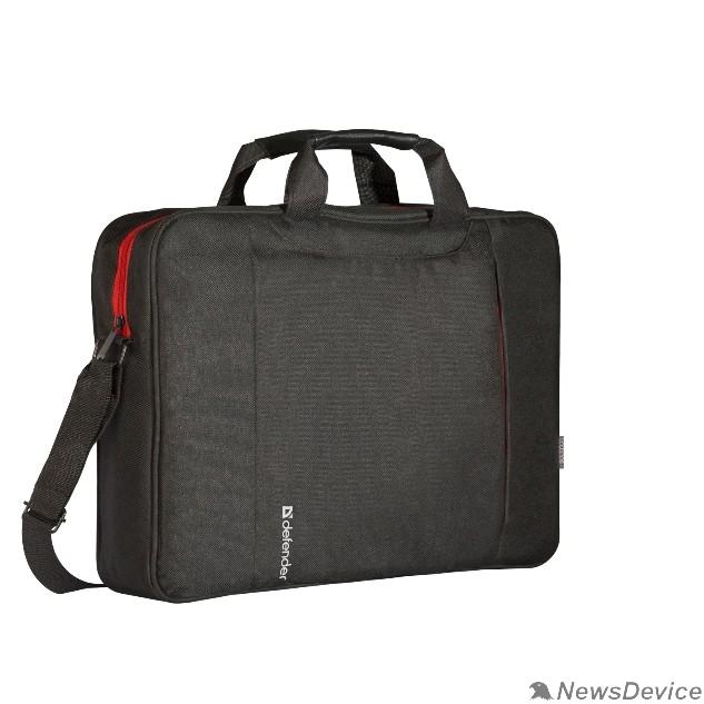 "Сумка для ноутбука Сумка для ноутбука Defender Geek 15.6"" черный, карман (26084)"