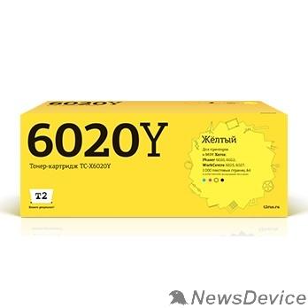 Расходные материалы T2 106R02762 Картридж (TC-X6020Y) для Xerox Phaser 6020/6022/WorkCentre 6025/6027 (1000k) Yellow