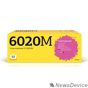 Расходные материалы T2 106R02761 Картридж (TC-X6020M) для Xerox Phaser 6020/6022/WorkCentre 6025/6027 (1000k) Magenta