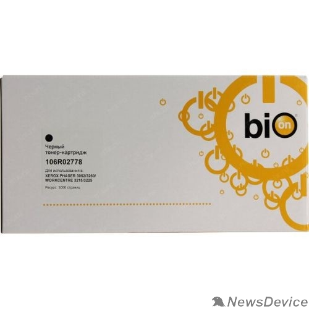 Расходные материалы Bion 106R02778 Картридж для Xerox Phaser 3260, 3052, WorkCenter 3215, 3225 (3'000 стр.) Черный