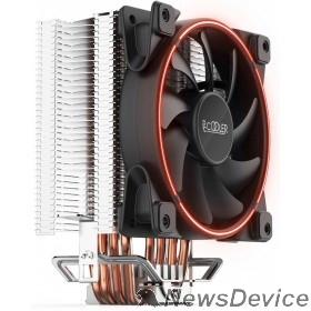 Вентиляторы PCCooler GI-X4R Кулер GI-X4 S775/115X/AM2/AM3/AM4 (24 шт/кор, TDP 145W, вент-р 120мм с PWM, Red LED FAN, 4 тепловые трубки 6мм, красная LED подсветка, 1000-1800RPM, 26.5dBa)