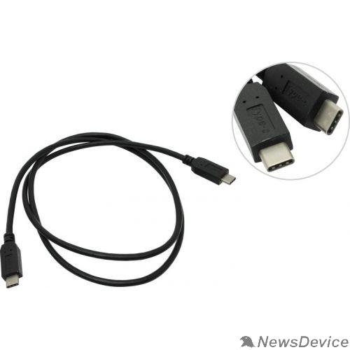Переходник ORIENT Кабель USB 3.0 Type-C, Cm UC-410 -> Cm (24pin), 1.0 м, черный