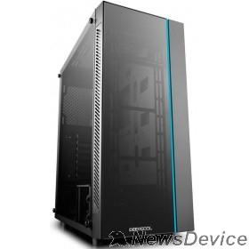 Корпус Deepcool MATREXX 55 ATX, Black, LED strip (front), Стекл. фронтальная и боковая панели, Без БП