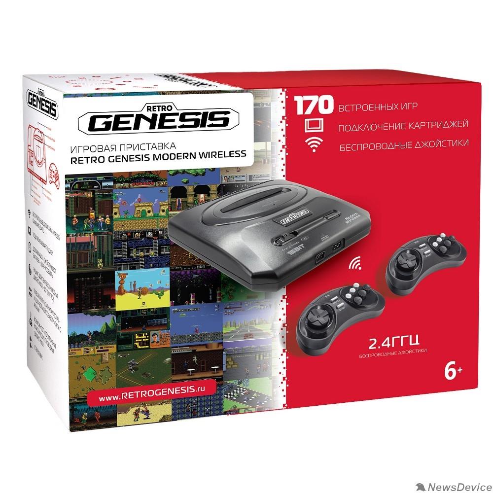 Игровые приставки SEGA Retro Genesis Modern Wireless +170 игр +2 беспр. джостика 2,4ГГц ConSkDn78