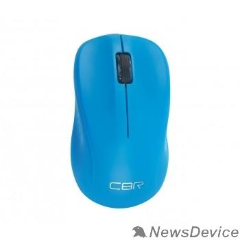 Мышь CBR CM 410 Blue, Мышь беспроводная, оптическая, 2,4 ГГц, 1000 dpi, 3 кнопки и колесо прокрутки, выключатель питания, цвет голубой